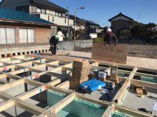 加須市Y様邸土台敷き